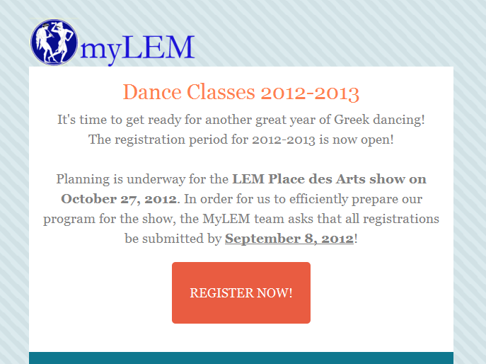 Registration NOW OPEN for 2012 - 2013
